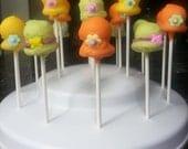 Easter Bonnet , Fashionista, Church Hat Cake Pops