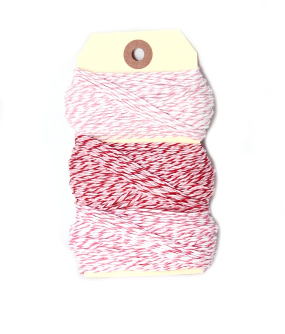 Pink Bakers Twine - 25 yards of each color - 75 total