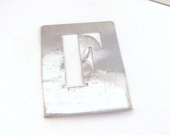 Metal Letter Stencil, Stencil for Collage, Found in France Alphabet Stencil for Art Projects and Home Decor