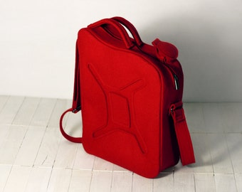 Red Gas Can Bag, Gas Tank Gasoline Red Felt Bag