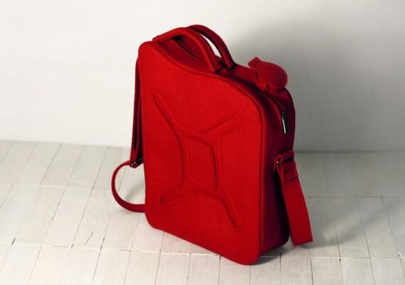Red Gas Can Bag, Gas Tank Gasoline Red Felt Bag