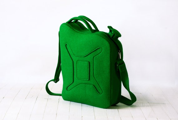 Gas Can Bag Green Petrol/Gasoline Laptop Felt Bag Geekery