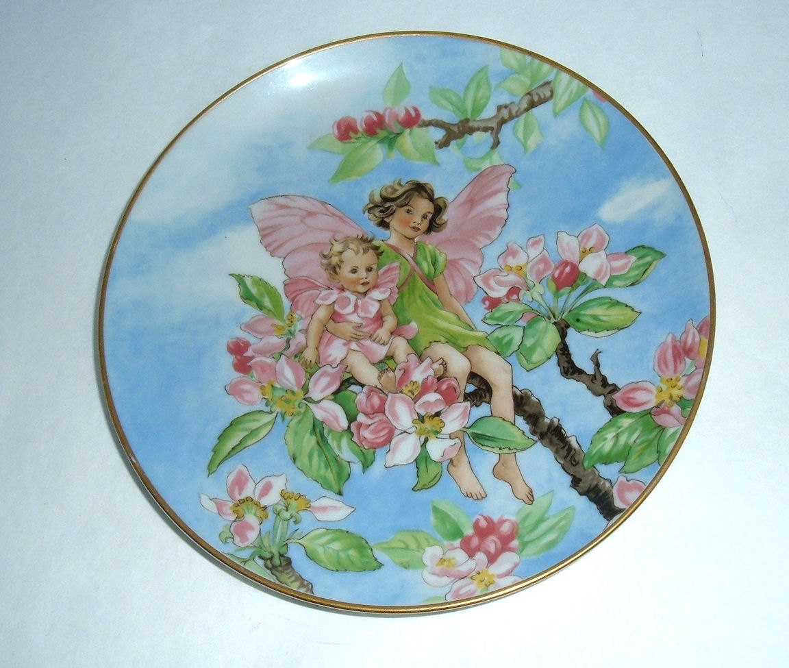 villeroy boch heinrich apple blossom fairy plate. Black Bedroom Furniture Sets. Home Design Ideas