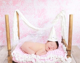 Newborn Photo Prop 4 Poster Canopy Bed