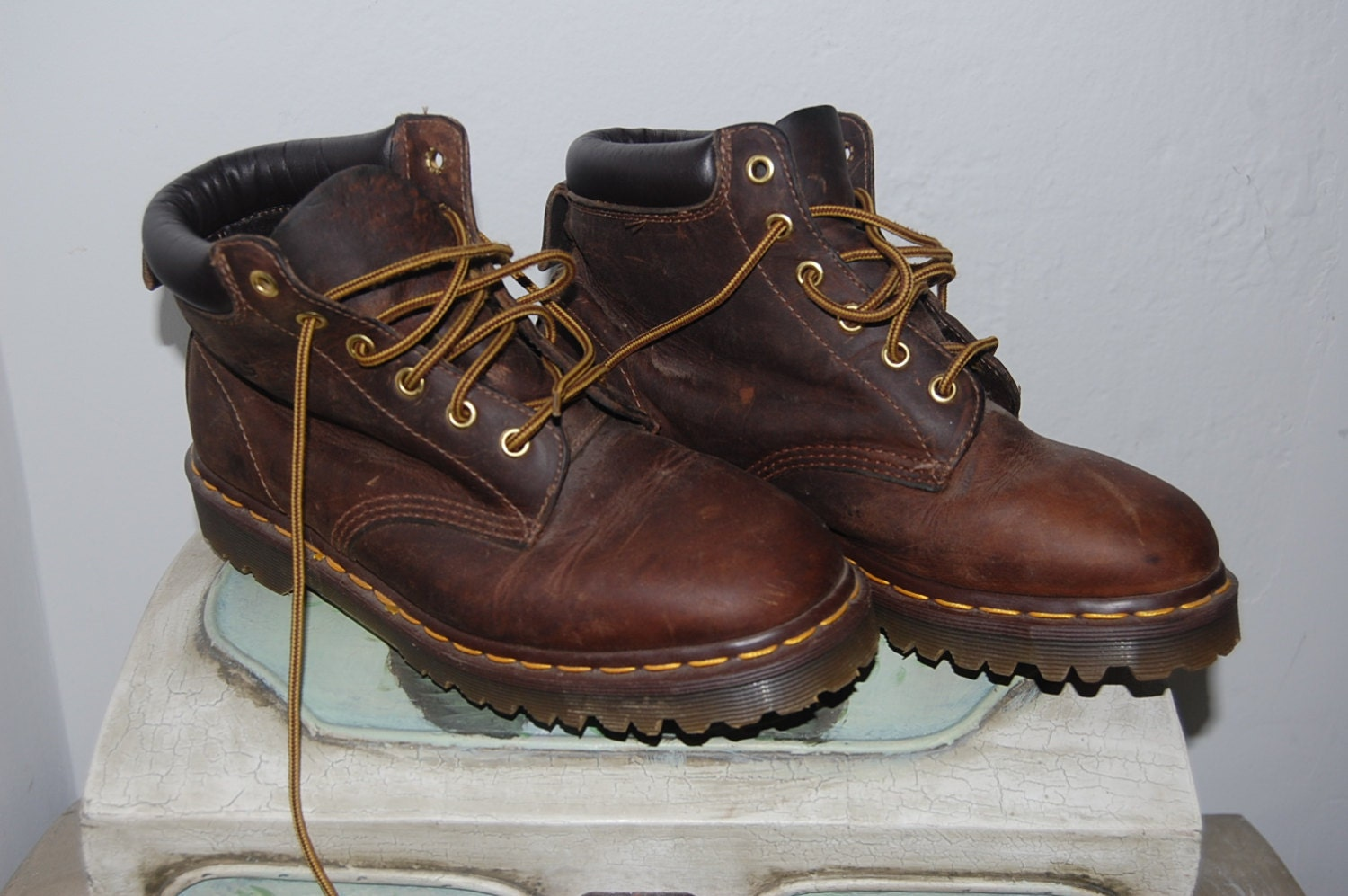 womens brown doc martens boots with unique exle
