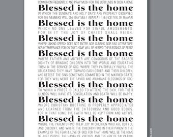 Personalized Mothers Day Gift, 12x18 Blessed is the Home Family Wall Art, Custom Gift for Mom, Housewarming Gift Idea, custom color