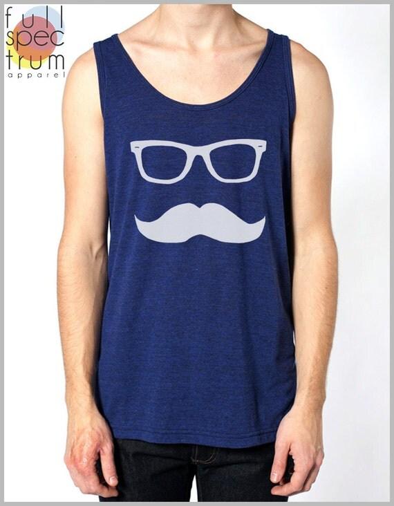 Mustache Wayfarer Tank Top Mens' Women's Unisex American Apparel Tank Top
