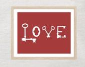 INSTANT- Key to Love Print 8.5x11