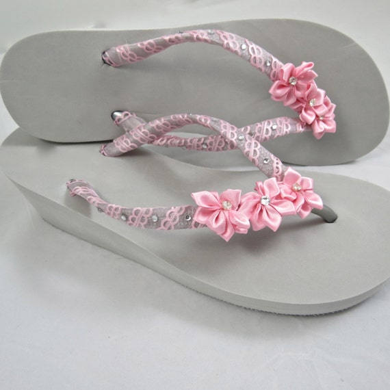 Items Similar To Wedding Day Flip Flops, Bride Sandals