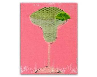 Wall Art 8x10 Print, ladies night, party, celebration decor, kitchen art, margarita, beach house decor