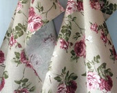 Linen Cotton Dish Towels Rose Flowers - Tea Towels set of 2