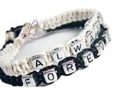 Always Forever Bracelets, Couples Bracelets, Personalized Bracelet Set, Hemp Bracelets, Couples Gift