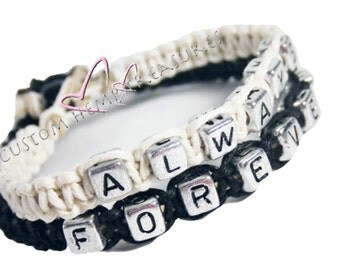 SALE Always Forever Bracelets, Couples Bracelets, Couples Jewelry, Hemp Bracelets, Couples Gift, Boyfriend Gift, Fiance gift