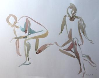 Life Sketch - Original Watercolour sketch