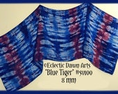 CLEARANCE: Silk Dancing Veil, Scarf, Sarong, 8mm SILK - SV100 (Blue Tiger)