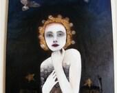 Genius Loci - spirit of place. large original mixed media on canvas