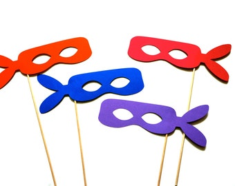 Photo Booth Props - set of 4 Ninja Masks