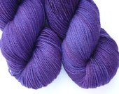 Hand Dyed Yarn - Merino / Cashmere / Nylon Sock Weight - Ausable Sock in Deep Amethyst Colorway