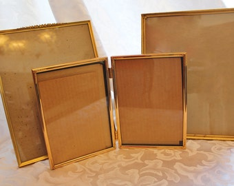 Vintage Gold Metal Picture Frame Collection