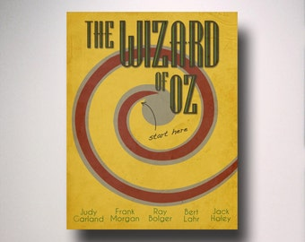 The Wizard of Oz Inspired  Minimalist Movie Poster