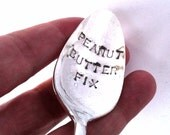 Hand Stamped Spoon, Peanut Butter Fix