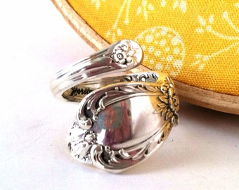 Wrapped Spoon Ring, Size 7,  Heritage 1953