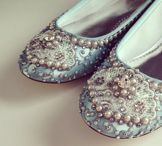 Golden Vines Slipper Bridal Ballet Flats Wedding Shoes - Any Size - Pick your own shoe color and crystal color