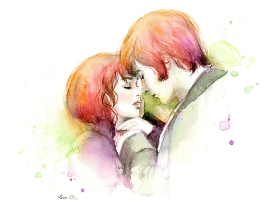 Watercolor Painting Couple In Love Pride And By Sookimstudio