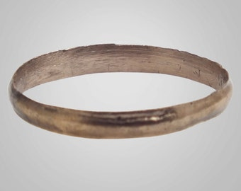 Authentic Ancient Viking  wedding Ring Band  Jewelry C.866-1067A.D. Size 11  1/2 (20.9mm)(Brr337)