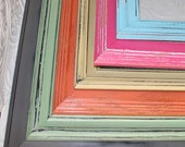 Painted Frame Your Size Your Color Hand Painted Distressed Frame Made to Order