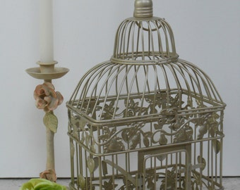 Small Champagne Gold Wedding Birdcage Card Holder / Gold Birdcage / Wedding Card Box / DIY Wedding / Wedding Supplies