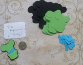 Mickey Mouse Friends Goofy Hat Die Cut pieces for crafts Cupcake Picks DIY Kids Crafts Birthday Party etc.