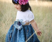 Girls Thanksgiving Dress shabby chic teal blue lace dress