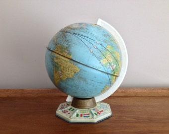 "Vintage Metal Globe J. Chein & Company 9"""
