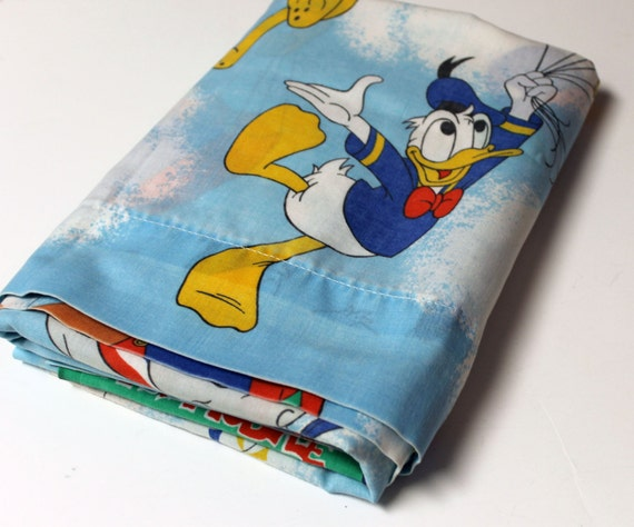Vintage Disney Characters Bed Sheet