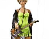 Polka Dot Lime Fizz sundress for your Iplehouse EID bjd ladies
