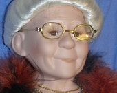 Porcelain GRANDMA DOLL Limited Edition of 2000 Her Name is Sam Just Too Cute