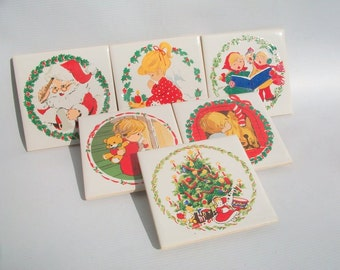 Set of 6 Christmas Table Trivets