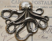 Large Steampunk Brass Octopus -Brass ox