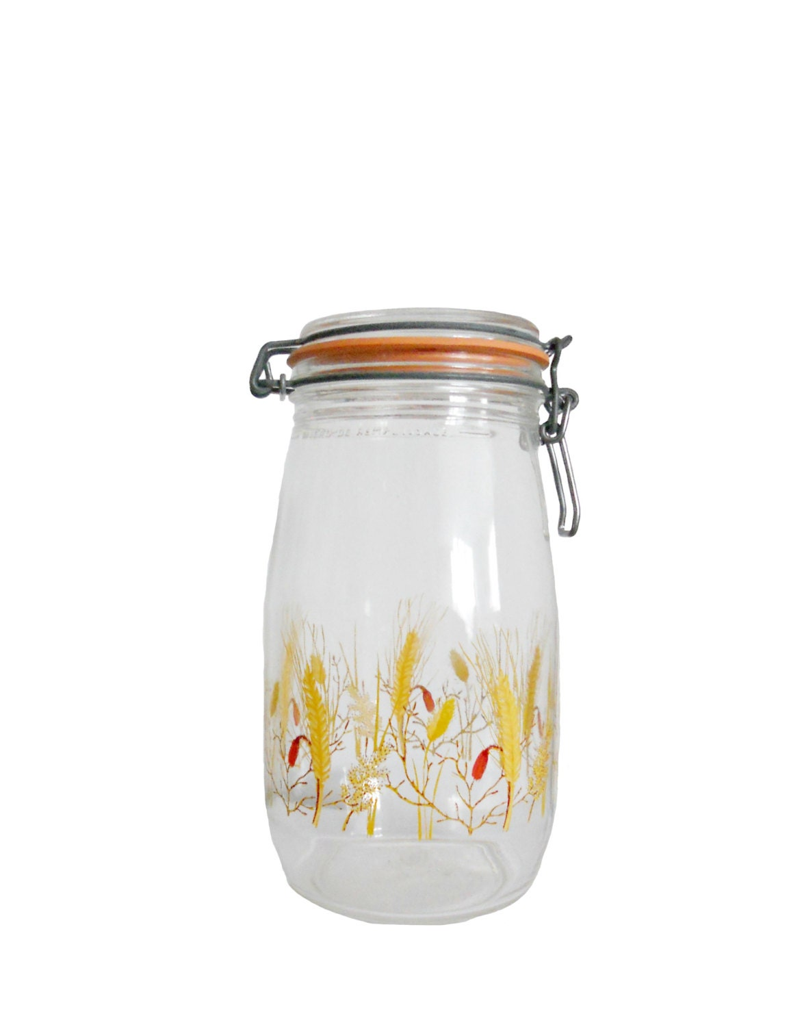 vintage kitchen canisters french glass wheat by french red amp white kitchen canister set chairish