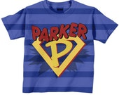 Boys Superhero Shirt, Personalized Super Hero Birthday T-Shirt, Boys Shirt, Costume with Cape,