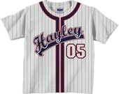 Personalized Baseball Jersey Shirt - Personalized Team T-Shirt  - Any Color - Any Name