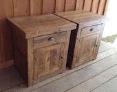 Aged Oak End Table Set