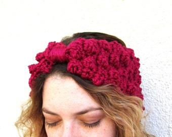 Womens Turban Headband Crochet Polka Dot Retro Boho