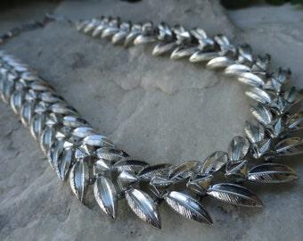 1950s Silver Tone Coro Choker Necklace