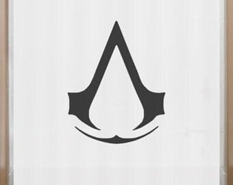 Assassin's Creed Shower Curtain insignia order bathroom decor bath kids