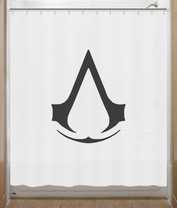 Black and white curtains for sale - Assassin S Creed Shower Curtain Insignia Order Bathroom