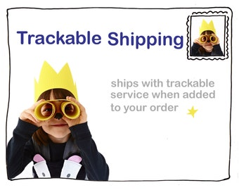 Trackable shipping postal add on