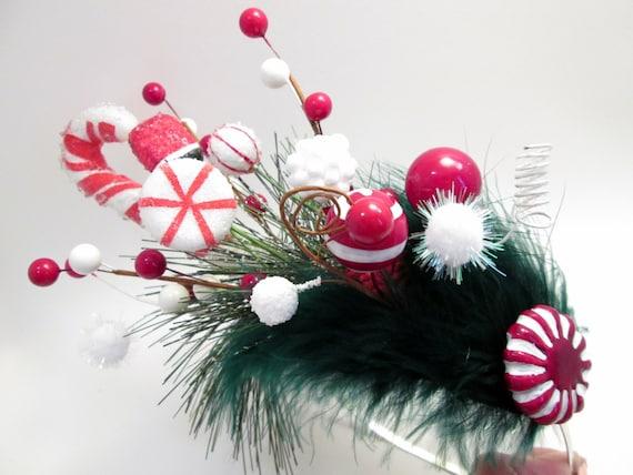 how to make a christmas fascinator