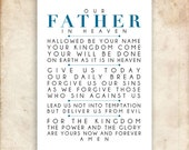 The Lord's Prayer. NIV. DIY. PDF. A3 for 11x14. Printable Scripture Poster. Bible Verse.